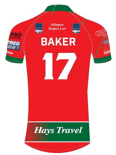 North Wales Crusaders Home Shirt Back